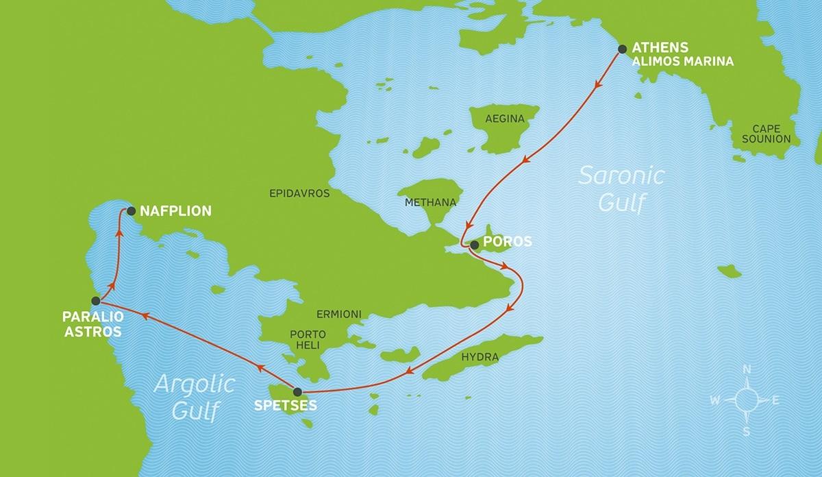 Program & Route Map | Catamarans Cup Greece